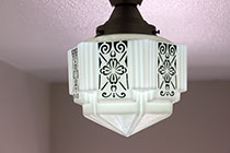 Custom Art Deco lights found throughout The Edgewater.