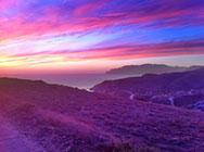 Gorgeous colors adorn the sky above Catalina's most popular campsites.